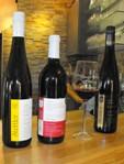 Rheingauer Weine im Gutsausschank im Weingut Stettler